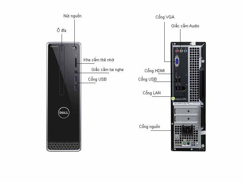 Máy Tính Để Bàn Dell Inspiron INS3268ST (5PCDW1) Core I3-7100