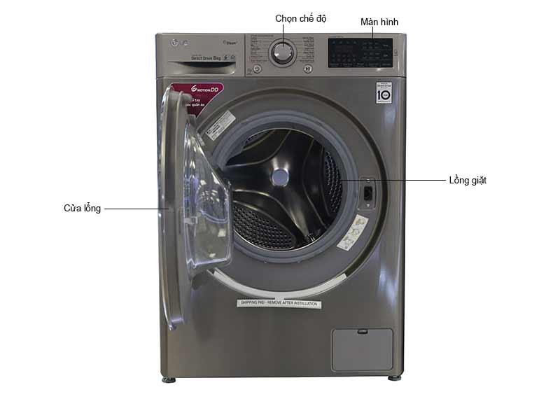 Máy Giặt Lồng Ngang LG 8 Kg FC1408S3E Inverter