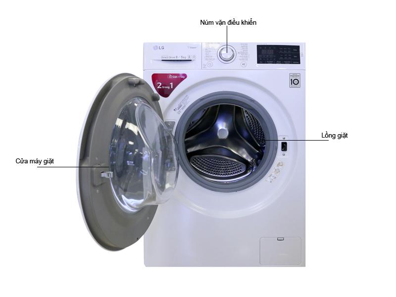 Máy Giặt Sấy LG FC1408D4W - Giặt 8KG Sấy 5Kg