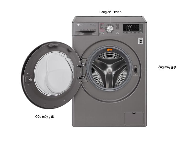 Máy Giặt Sấy Lồng Ngang LG FC1409D4E Giặt 9Kg Sấy 5Kg