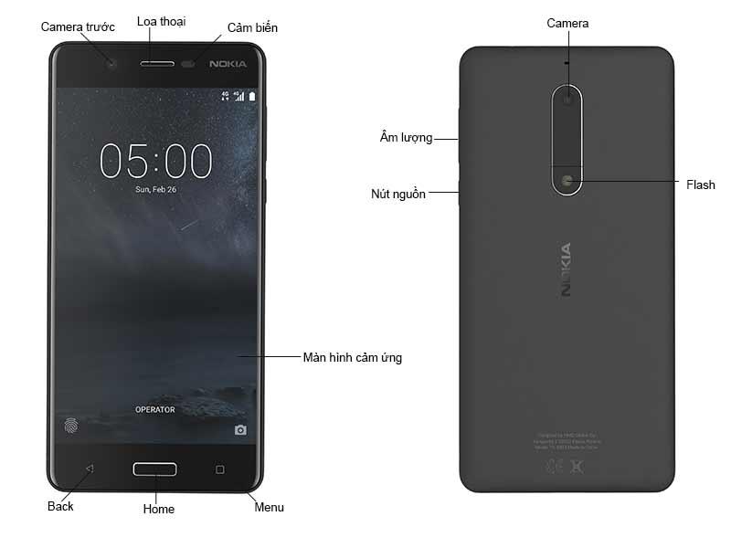Điện Thoại Nokia 5 - Màu Đen NK1053B