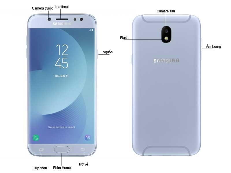 Galaxy J7 Pro Bạc Ánh Xanh