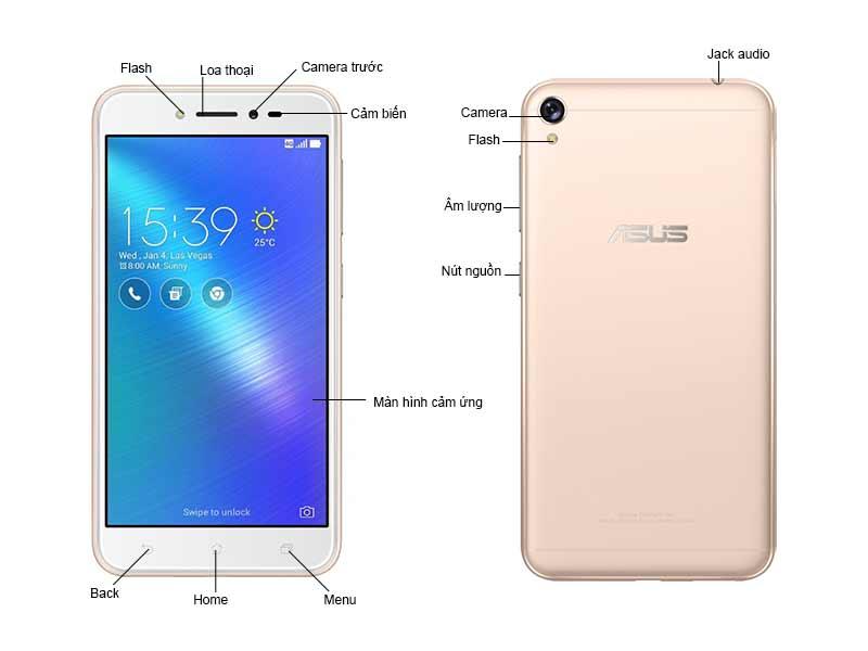 Asus Zenfone Live ZB501KL4G007A - Màu Gold