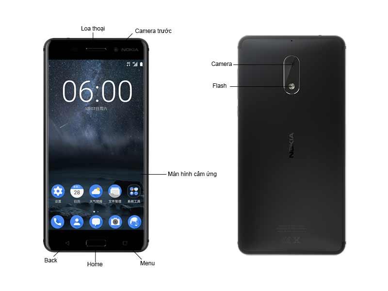 Nokia 6 TA1021 NK1021B - Màu Đen