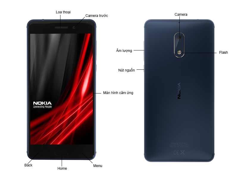 Nokia 6 TA1021 NK1021BL - Màu Xanh