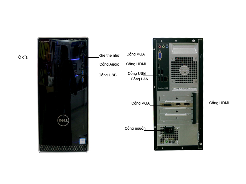 Máy tính để bàn Dell Inspiron 3650 42IT35D003