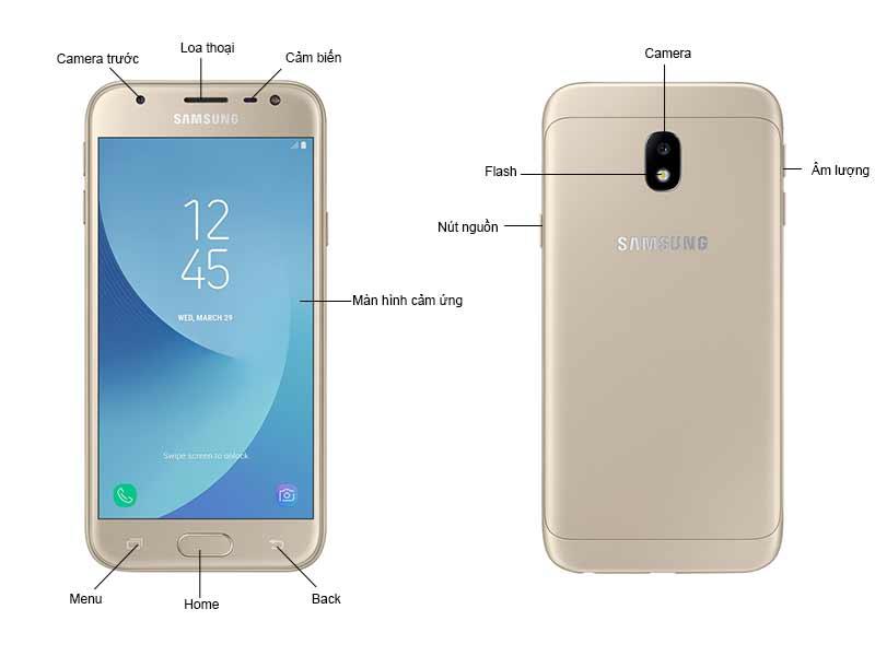 Samsung Galaxy J3 Pro - Màu Vàng