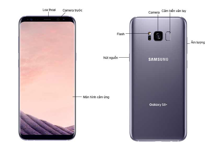 Galaxy S8 Plus Orchid Gray