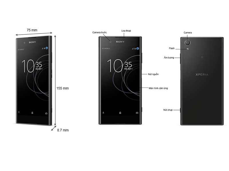 Sony Xperia XA1 Plus - Màu Vàng