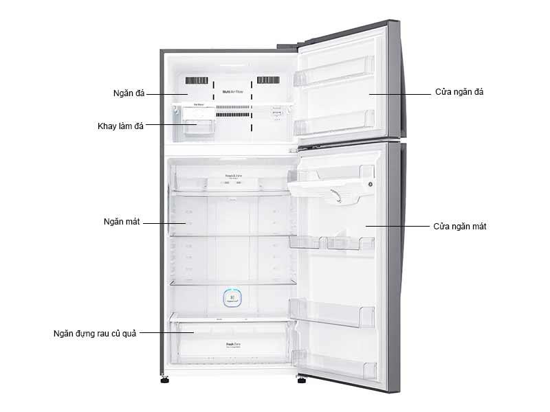 Tủ Lạnh LG 475L/516L GN-L602S.APZPEVN Inverter