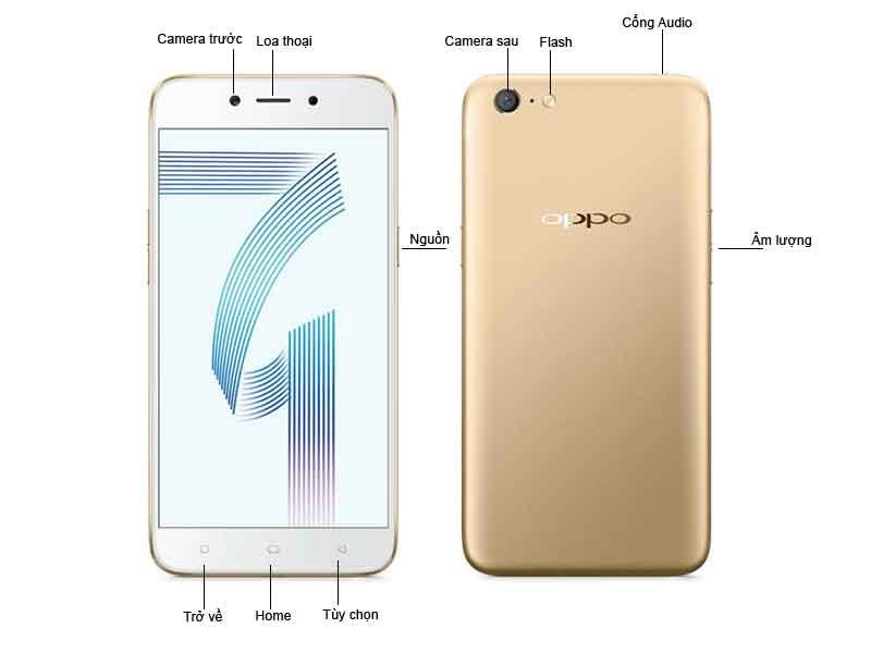 OPPO A71 Vàng Ram 3Gb/16Gb