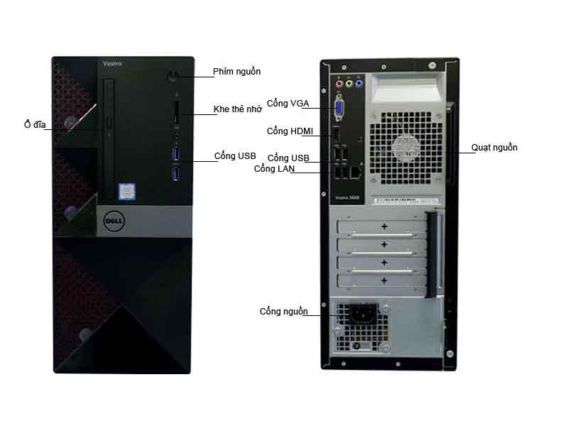 Máy tính để bàn Dell Vostro 3668 (42VT360011)