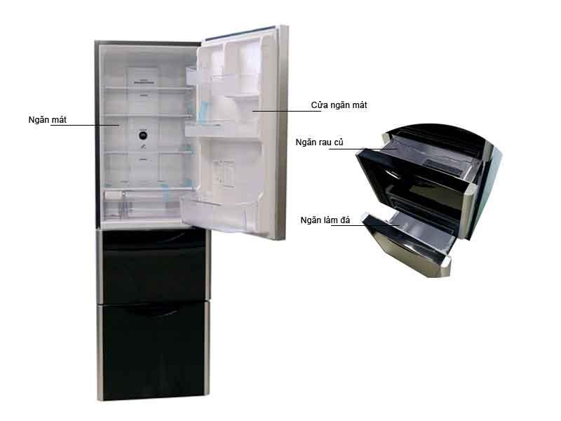 Tủ lạnh Hitachi R-SG32FPGV(GBK) 315 lit Inverter