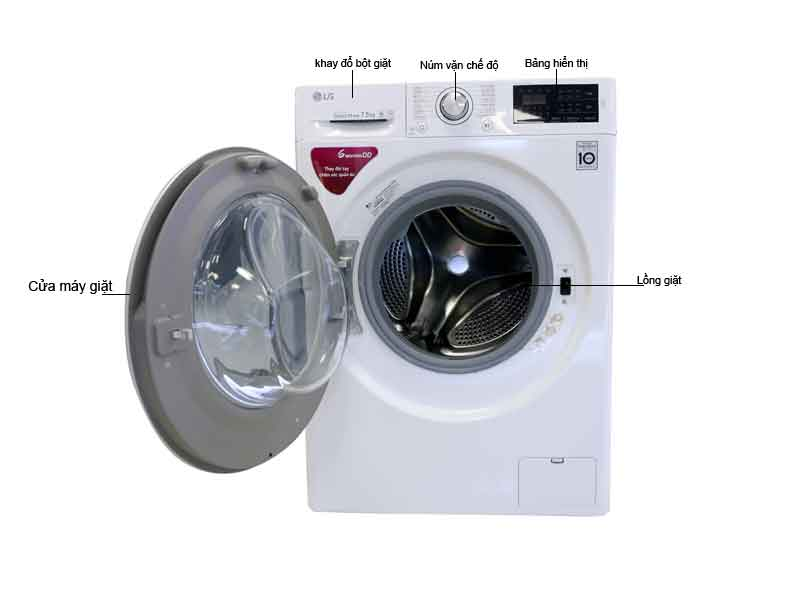 Máy giặt  lồng ngang LG FC1475N4W - 7.5 Kg