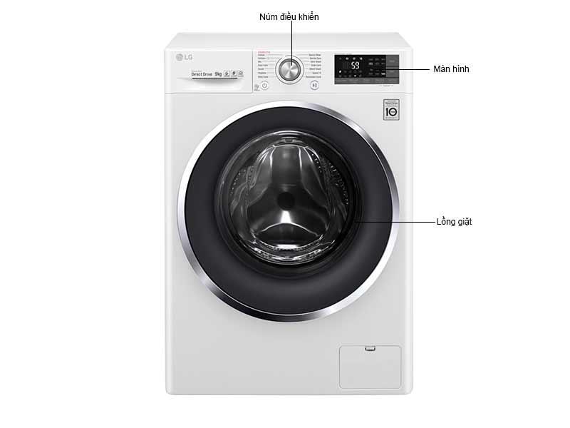 Máy Giặt Lồng Ngang LG 9 Kg FC1409S3W.ABWPEVN Inverter