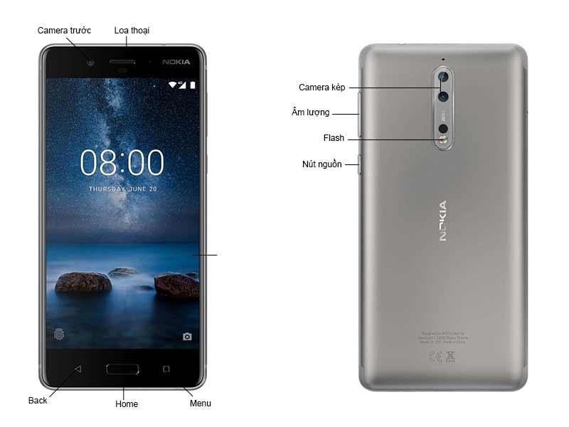 Nokia 8 - Màu Xám