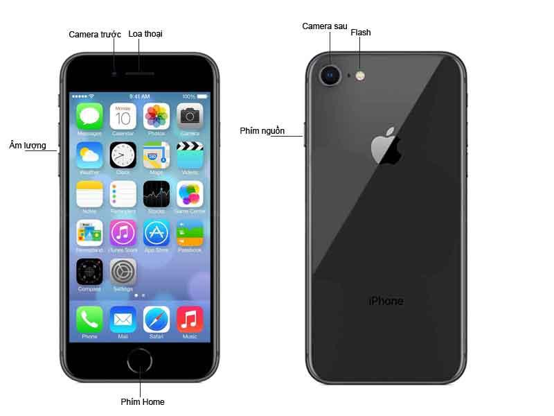 Điện Thoại Di Động Apple Iphone 8 64GB Màu Gray