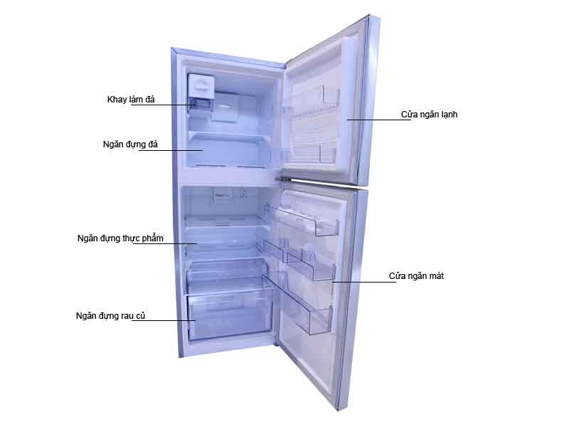 Tủ Lạnh Beko RDNT270I50VX  241lít  Inverter Màu Xám
