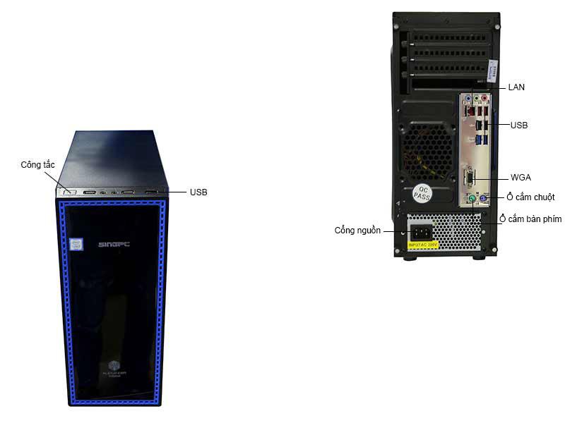 Máy Tính Để Bàn SingPC Hi37155BK Corei3 (mầu đen)