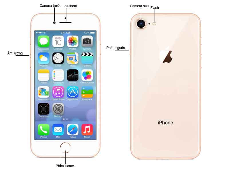 Điện Thoại Di Động Apple iPhone 8 64GB Màu Gold