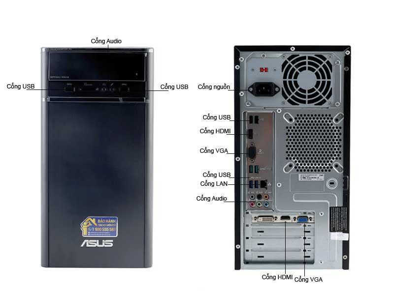 Máy Tính Để Bàn ASUS Core i5 K31CDVN022D