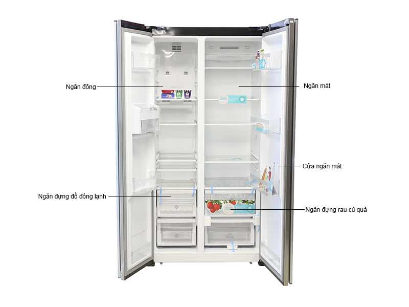 Tủ Lạnh SBS  Electrolux  ESE6201BG - Màu Đen