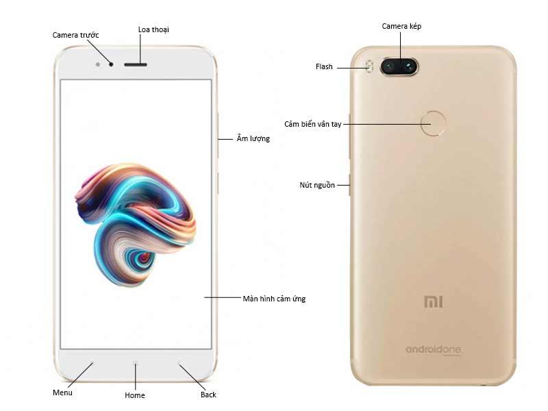 ĐTDĐ Xiaomi Mi A1 Màu Vàng