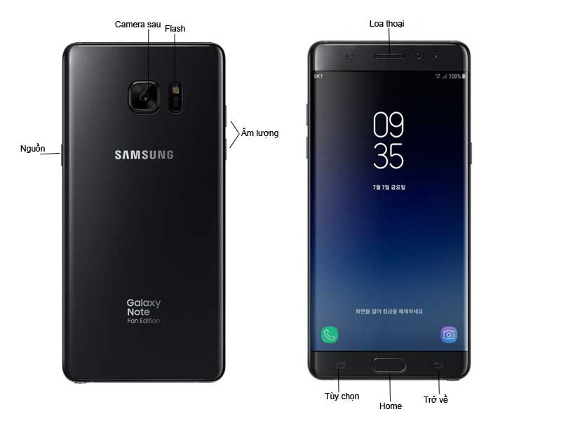 Samsung Galaxy Note FE - Màu Đen