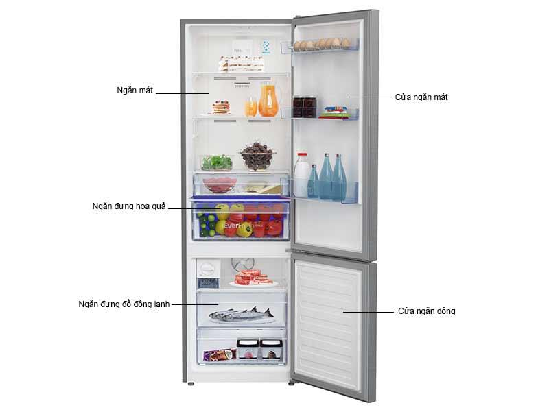 Tủ Lạnh Beko RCNT375I50VZX Inverter