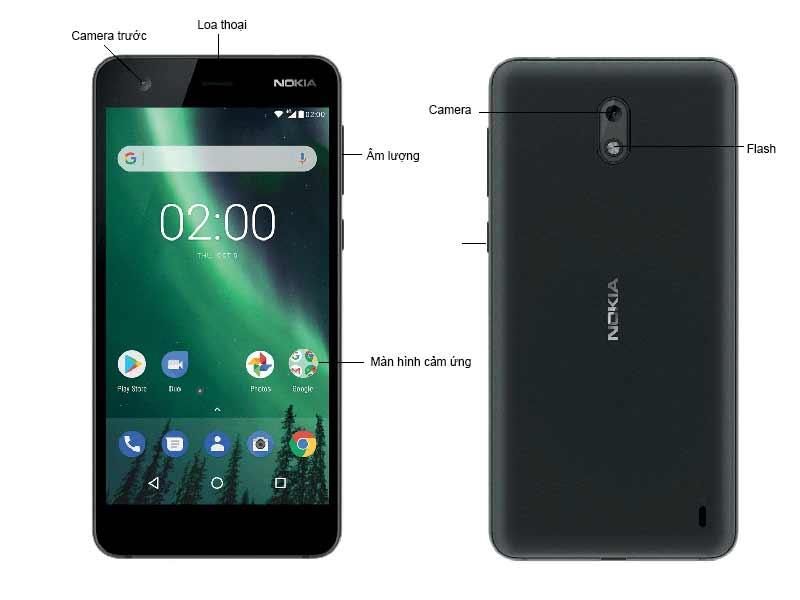 Điện Thoại Nokia 2 - Màu Đen