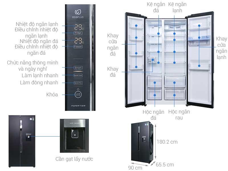 Tủ Lạnh SBS Aqua AQRIG585ASGS