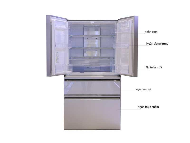 Tủ Lạnh Mitsubishi MRLX68EMGSLV 564L 4 Cửa Màu Gương Bạc