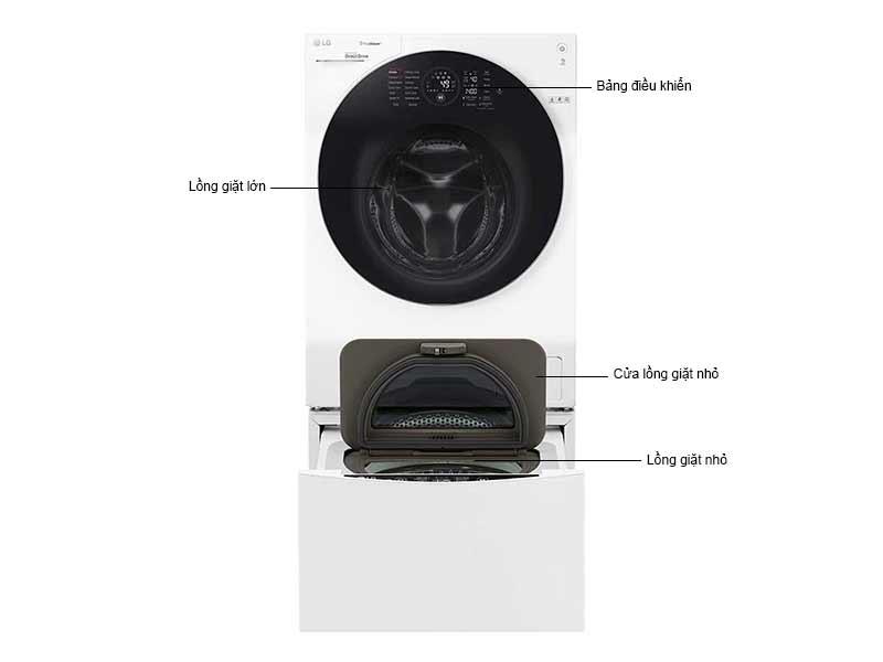 Máy Giặt LG Twin Wash FG1405S3W/TG2402NTWW