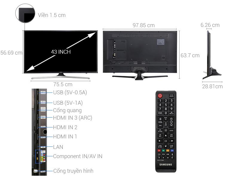 Samsung Led UA43MU6103KXXV
