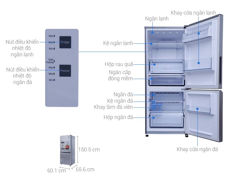 Tủ Lạnh Panasonic NR-BV289QSVN Inverter 255L