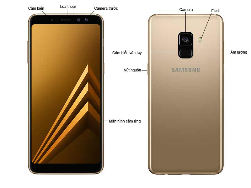 Samsung Galaxy A8 Plus Vàng