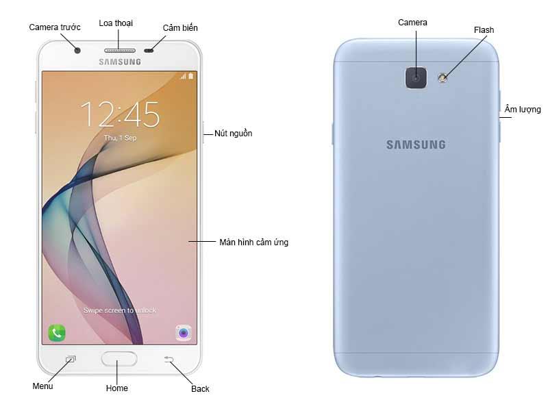 Samsung Galaxy J7 Prime Bạc Ánh Xanh