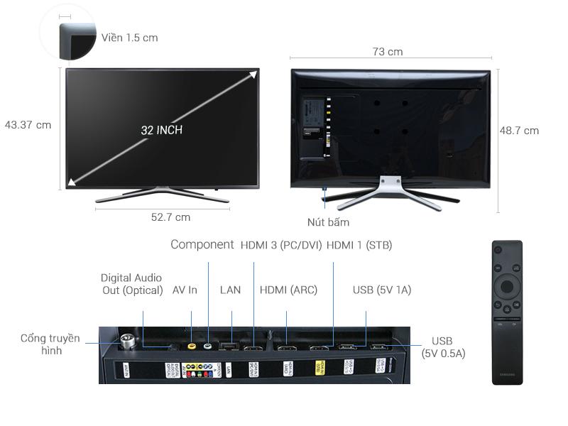 Samsung Led UA32M5503AKXXV 32 Inch