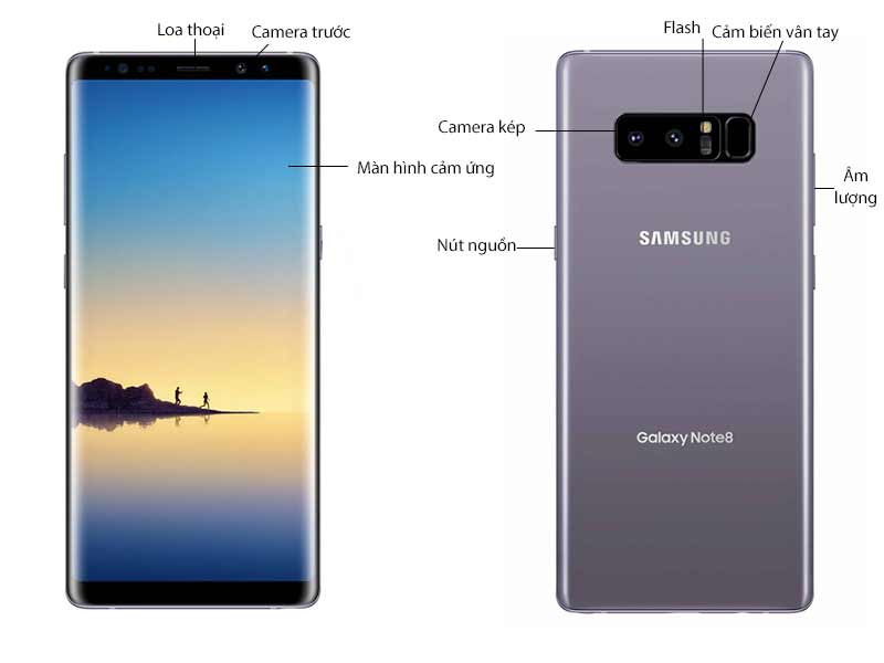 Samsung Galaxy Note 8 Tím Khói