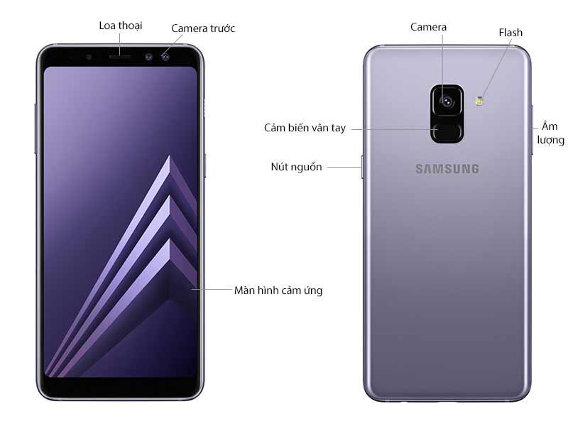 Samsung Galaxy A8 Plus 2018 Tím Khói