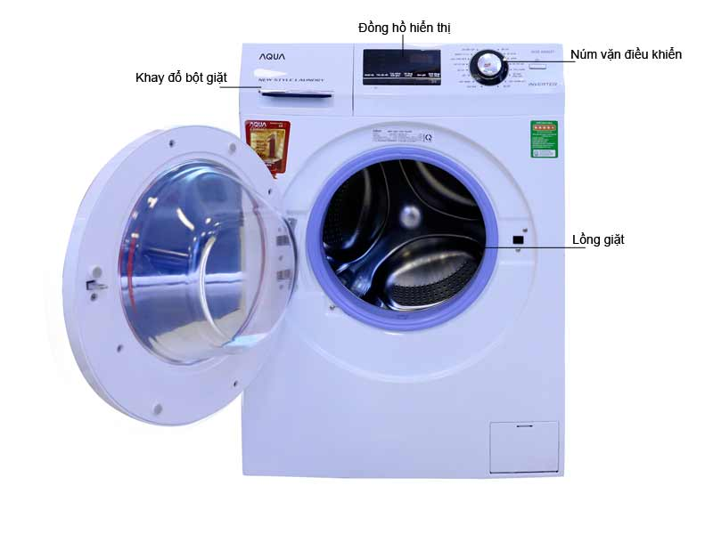Máy Giặt Aqua AQDA800ZTW Inverter Trắng