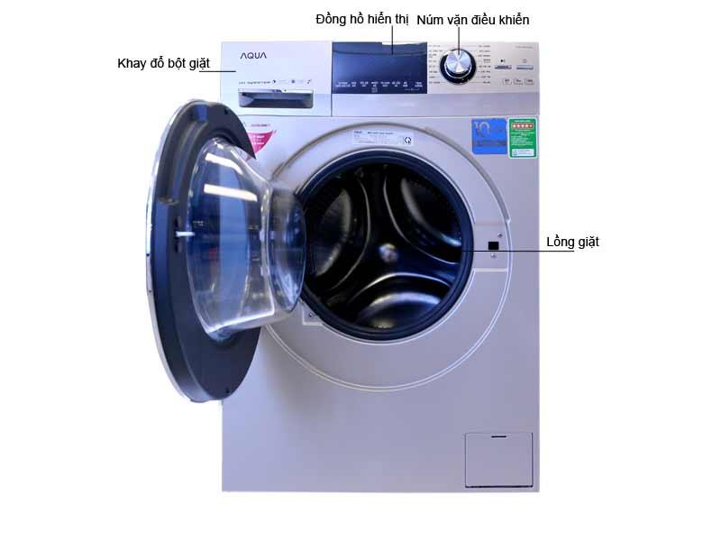 Máy Giặt Aqua AQDDD850AN Inverter Vàng Kim