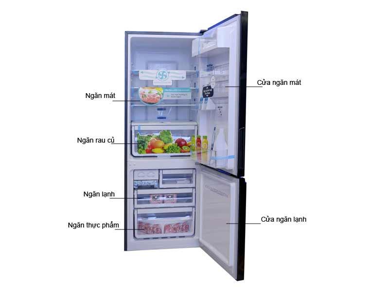 Tủ Lạnh Electrolux EBB3200BG - 310 L Inverter Ngăn Đá Dưới