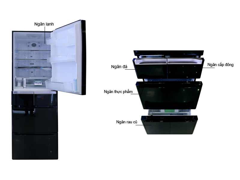Tủ Lạnh Hitachi E5000VXK 529 Lít Inverter