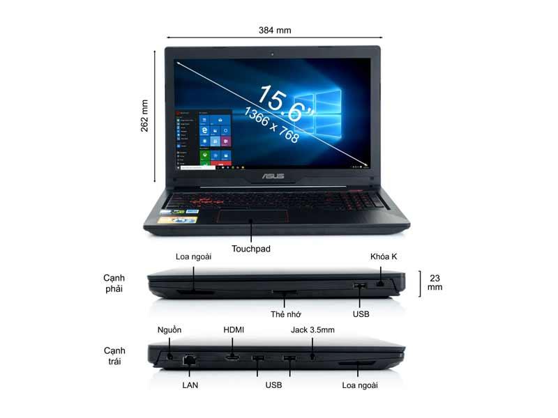 Laptop Asus FX503VD-E4082T Core i5-7300HQ