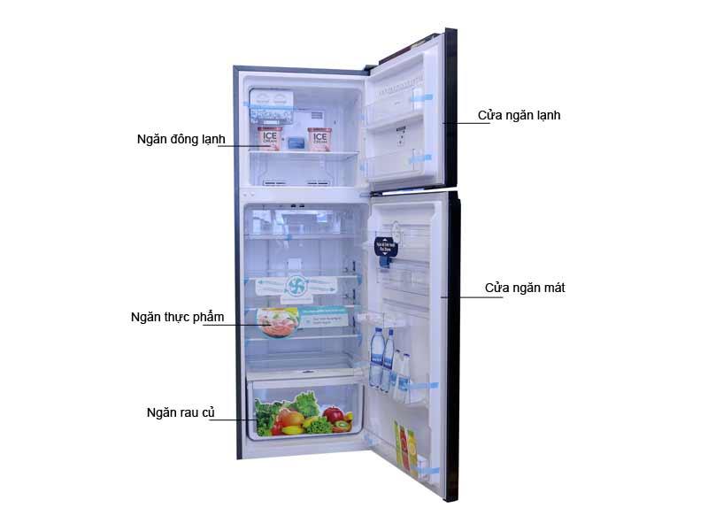 Tủ Lạnh Electrolux ETB2600BG Inverter Đen