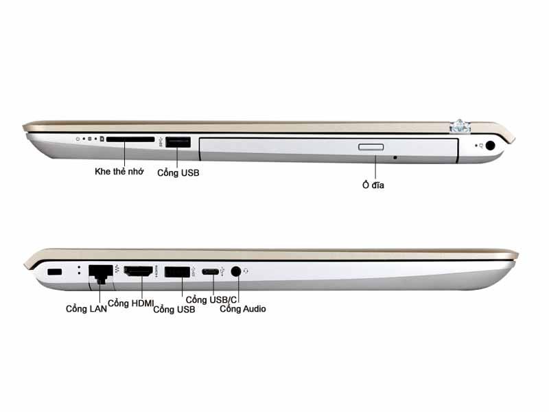 Laptop HP Pavilion P5-cc157TX Vàng