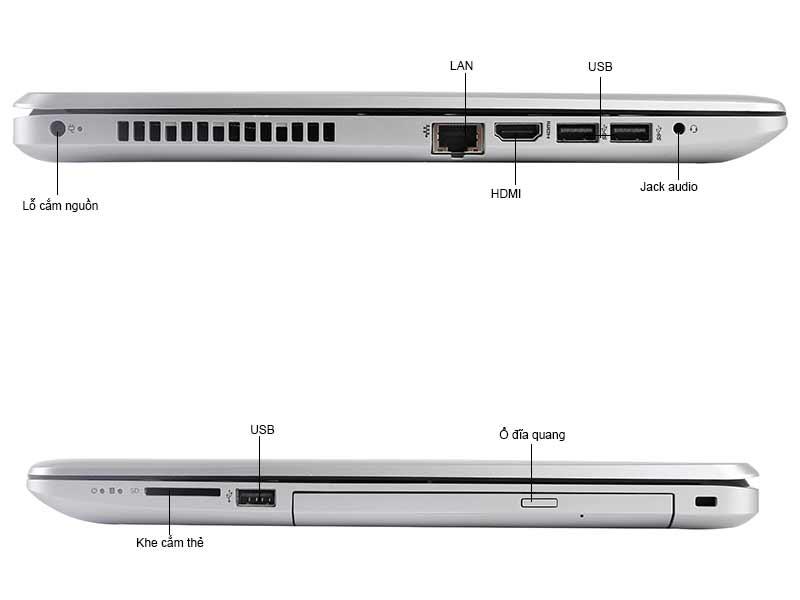 Laptop HP HP15-BS153TU Silver