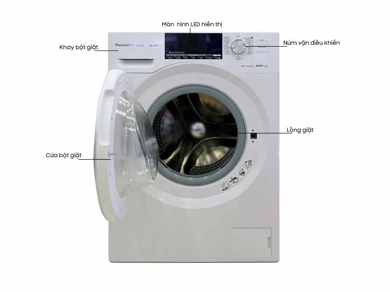 Máy Giặt Panasonic NA-128VG6WV2 - 8.0 kg