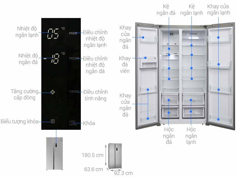 Tủ Lạnh SBS Electrolux ESE5301AG-VN  541 Lít